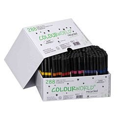 Colourworld Recycled Children's Marker Fine Tip Pack of 288 Assorted