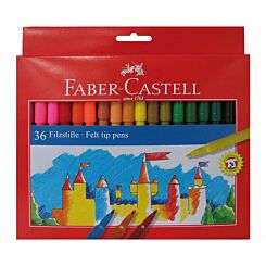 Faber Castell Fibre Tip Pens Box Of 36