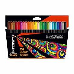 BiC Intensity Felt Tip Pens Pack of 24