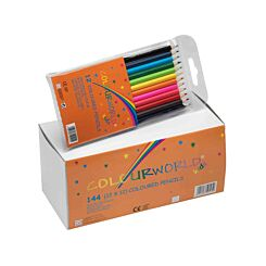 Colourworld Children's Colouring Pencils Assorted Pack of 144