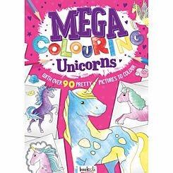 Mega Colouring Book Unicorns