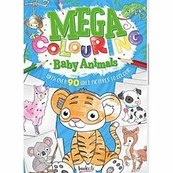 Mega Colouring Book Baby Animals