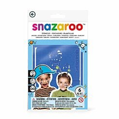 Snazaroo Adventure Face Paint Stencil Pack of 6