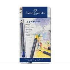 Faber Castell Goldfaber Colour Pencils Tin of 12