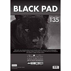 Frisk Black Paper Pad A4