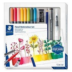 Staedtler Design Journey Watercolour Floral Art Set