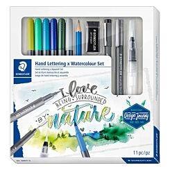 Staedtler Design Journey Watercolour and Hand Lettering Art Set 61 3001-2