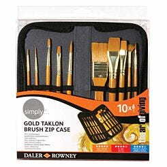 Daler Rowney Simply Taklon Brush and Zip Case