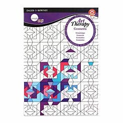 Daler Rowney Art Therapy Colouring Book Geometric A5