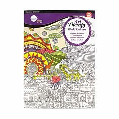Daler Rowney Art Therapy Colouring Book World Cultures A4
