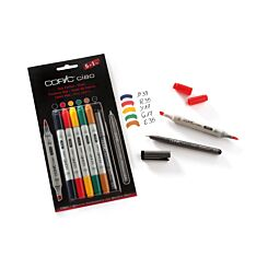 Copic Ciao Marker Pens Hues Pack of 5 Plus Copic Multiliner