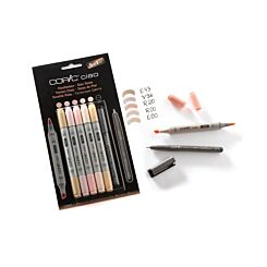 Copic Ciao Marker Pens Skin Tones Pack of 5 Plus Copic Multiliner
