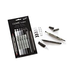 Copic Ciao Marker Pens Grey Tones Pack of 5 Plus Copic Multiliner