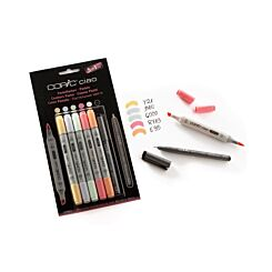 Copic Ciao Marker Pens Pastel Tones Pack of 5 Plus Copic Multiliner