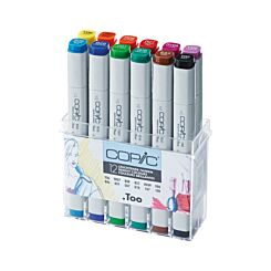 Copic Markers Bright Pens Pack of 12
