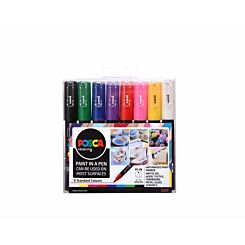 Uni Posca Marker 0.7mm Bullet Tip PC-1MR Pack of 8 Assorted