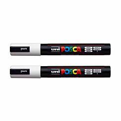 Uni Posca Marker Pen Medium Bullet Tip PC-5M Pack of 2