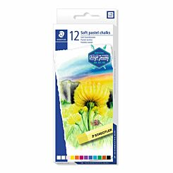 Staedtler Soft Pastel Chalks Assorted Colours Pack of 12