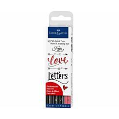 Faber Castell Pitt Artist Hand Lettering Pens Set of 4
