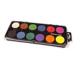 Major Brushes Watercolour Set 12 Colours
