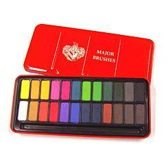 Major Brushes Watercolour Tin 24 Colours