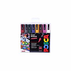Posca PC-5M Marker Pens Deep Colours Pack of 8