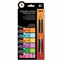 Spectrum Noir TriBlend 3 in 1 Blendable Markers Exotic Pack of 6