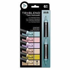 Spectrum Noir TriBlend 3 in 1 Blendable Markers Vintage Pack of 6