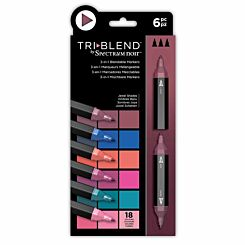Spectrum Noir TriBlend 3 in 1 Blendable Markers Jewel Pack of 6