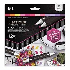 Spectrum Noir Classique Dual Tip Permanent Markers Floral Pack of 12