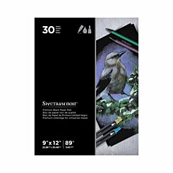 Spectrum Noir Black Paper Pad 9x12