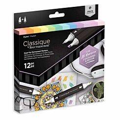 Spectrum Noir Classique Dual Tip Markers Pastel Pack of 12