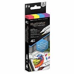 Spectrum Noir Illustrator Dual Tip Markers Basics Pack of 4