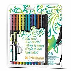 Chameleon Fineliners Bright Colours Set of 12