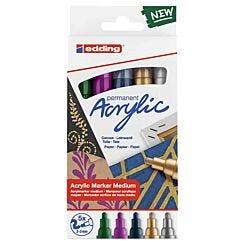 Edding Acrylic Paint Markers 2-3mm e-5100/5S Set of 5 Festive