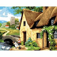 Adult Painting By Numbers Cottage