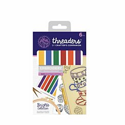 Crafters Companion Threaders Stranded Embroidery Cotton Brights