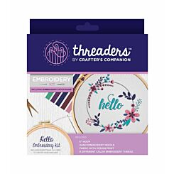 Crafters Companion Threaders Embroidery Kit Hello