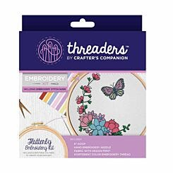Crafters Companion Threaders Embroidery Kit Flutterby