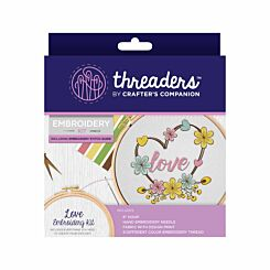 Crafters Companion Threaders Embroidery Kit Love