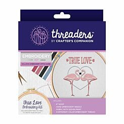 Crafters Companion Threaders Embroidery Kit True Love