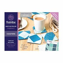 Threaders Quilt As You Go Fabrikit Coasters