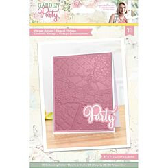 Garden Party Vintage Parasol 3D Embossed Folder 5 x 7 inches