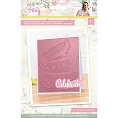 Garden Party Towering Teacups 3D Embossed Folder 5 x 7 inches