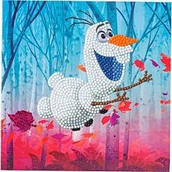 Floating Olaf Crystal Art Card 18x18