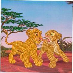 Simba and Nala Crystal Art Card 18x18