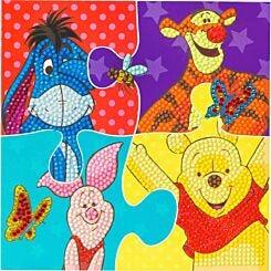 Winnie The Pooh Puzzle Crystal Art Card 18x18