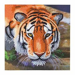Tiger Crystal Art Card 18x18