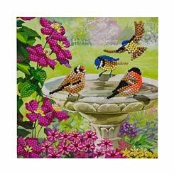 Birds Crystal Art Card 18x18