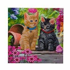 Cat Friends Crystal Art Card 18x18